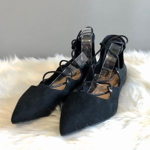 Spring Black Ballerina Pointed Toe Flats